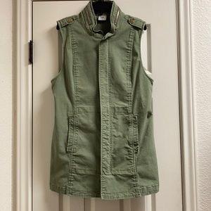 Cabi explorer military olive green long vest